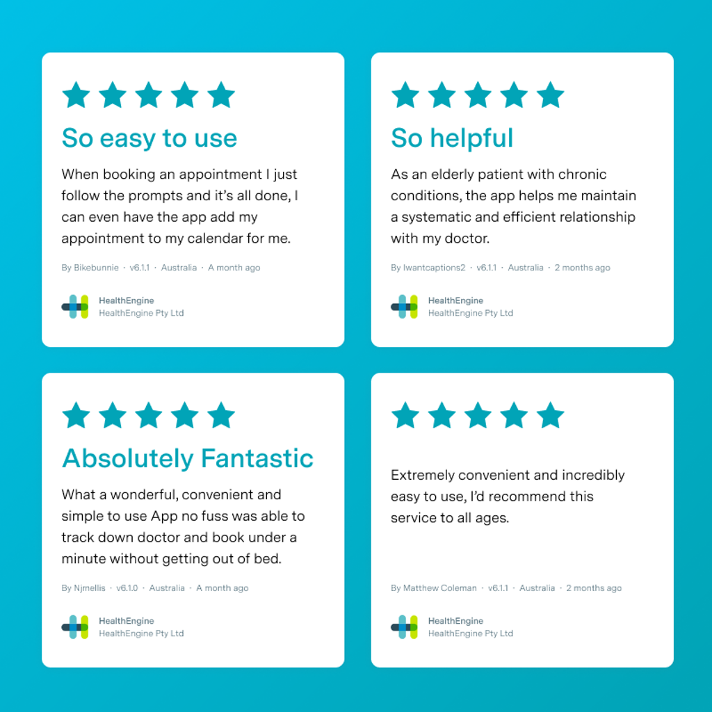 A selection of App reviews from patients