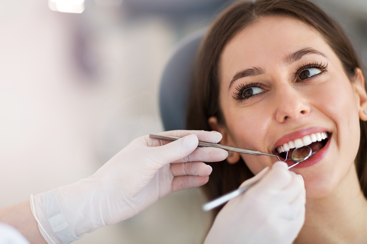 A patient in the dental chair
